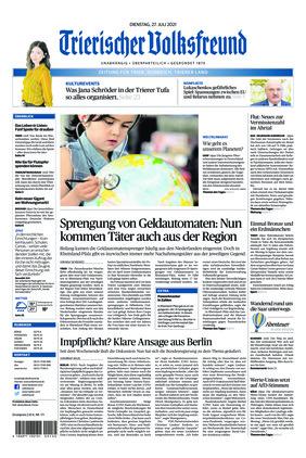 Trierischer Volksfreund - Zeitung für Trier und das Trierer Land (27.07.2021)
