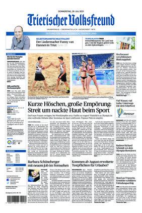 Trierischer Volksfreund - Zeitung für Trier und das Trierer Land (29.07.2021)