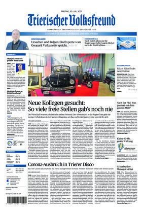 Trierischer Volksfreund - Zeitung für Konz, Saarburg und den Hochwald (30.07.2021)