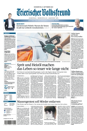 Trierischer Volksfreund - Zeitung für Bitburg-Prüm (09.09.2021)