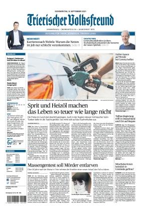 Trierischer Volksfreund - Zeitung für Trier und das Trierer Land (09.09.2021)