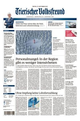 Trierischer Volksfreund - Zeitung für die Vulkaneifel (10.09.2021)