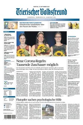 Trierischer Volksfreund - Zeitung für Bitburg-Prüm (13.09.2021)