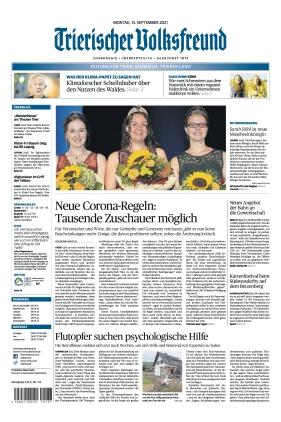 Trierischer Volksfreund - Zeitung für Trier und das Trierer Land (13.09.2021)