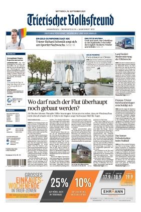 Trierischer Volksfreund - Zeitung für Konz, Saarburg und den Hochwald (15.09.2021)