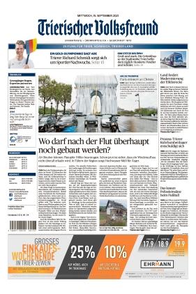 Trierischer Volksfreund - Zeitung für Trier und das Trierer Land (15.09.2021)