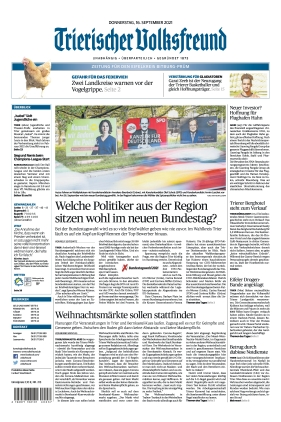Trierischer Volksfreund - Zeitung für Bitburg-Prüm (16.09.2021)