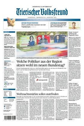 Trierischer Volksfreund - Zeitung für Konz, Saarburg und den Hochwald (16.09.2021)