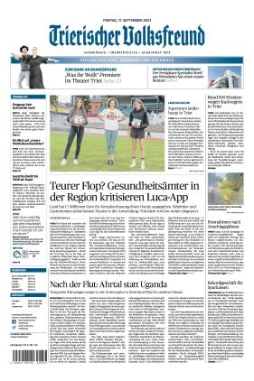 Trierischer Volksfreund - Zeitung für Konz, Saarburg und den Hochwald (17.09.2021)