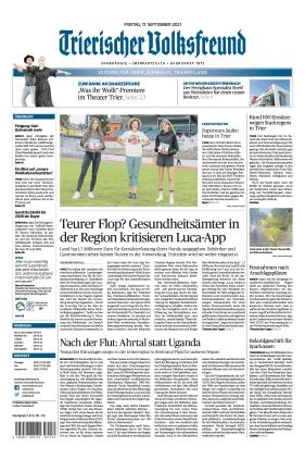 Trierischer Volksfreund - Zeitung für Trier und das Trierer Land (17.09.2021)