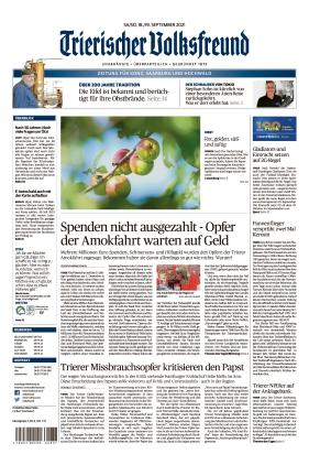 Trierischer Volksfreund - Zeitung für Konz, Saarburg und den Hochwald (18.09.2021)