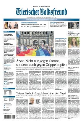 Trierischer Volksfreund - Zeitung für Konz, Saarburg und den Hochwald (20.09.2021)
