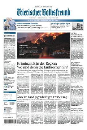 Trierischer Volksfreund - Zeitung für Konz, Saarburg und den Hochwald (21.09.2021)