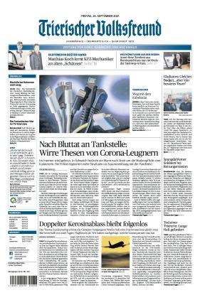Trierischer Volksfreund - Zeitung für Konz, Saarburg und den Hochwald (24.09.2021)