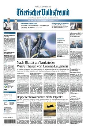 Trierischer Volksfreund - Zeitung für Trier und das Trierer Land (24.09.2021)