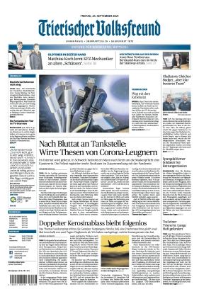 Trierischer Volksfreund - Zeitung für Bernkastel-Wittlich (24.09.2021)