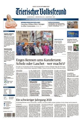 Trierischer Volksfreund - Zeitung für Konz, Saarburg und den Hochwald (25.09.2021)