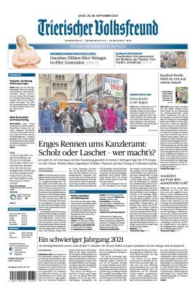 Trierischer Volksfreund - Zeitung für Bernkastel-Wittlich (25.09.2021)