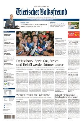 Trierischer Volksfreund - Zeitung für Bernkastel-Wittlich (09.10.2021)