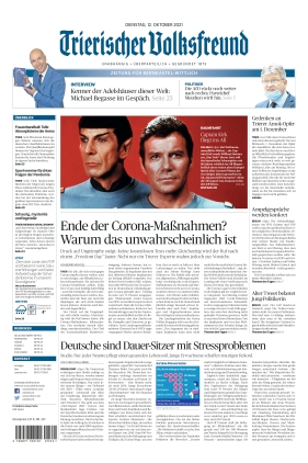 Trierischer Volksfreund - Zeitung für Bernkastel-Wittlich (12.10.2021)