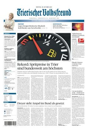 Trierischer Volksfreund - Zeitung für Bernkastel-Wittlich (18.10.2021)