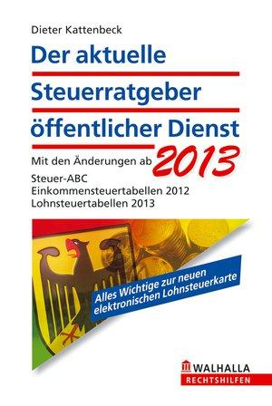 Der aktuelle Steuerratgeber öffentlicher Dienst 2013