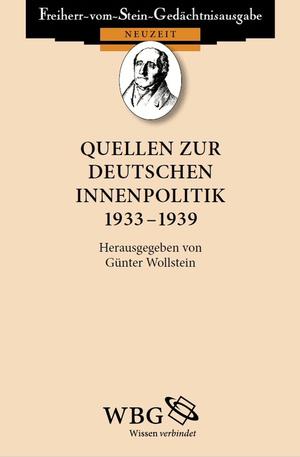 Quellen zur deutschen Innenpolitik 1933 - 1939