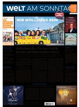 Welt am Sonntag Frühausgabe Samstag (18.09.2021)