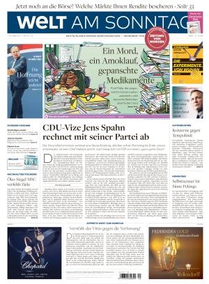 Welt am Sonntag Frühausgabe Samstag (02.10.2021)