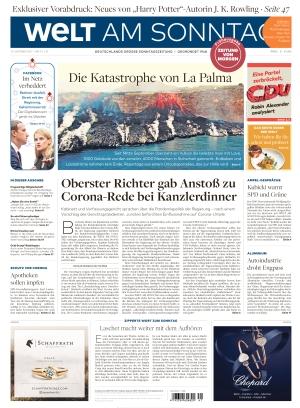 Welt am Sonntag Frühausgabe Samstag (09.10.2021)