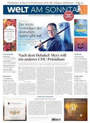 Welt am Sonntag Frühausgabe Samstag (23.10.2021)