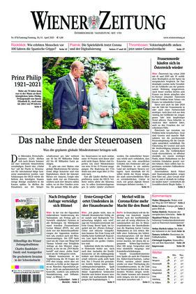Wiener Zeitung (10.04.2021)