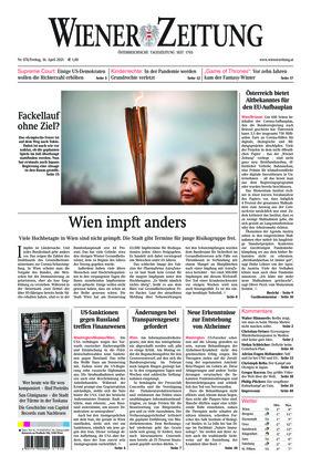 Wiener Zeitung (16.04.2021)