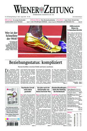 Wiener Zeitung (31.07.2021)