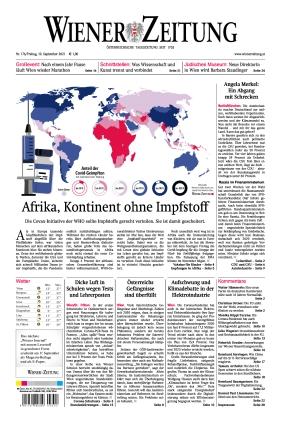 Wiener Zeitung (10.09.2021)