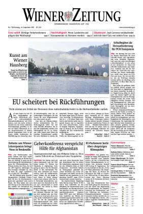 Wiener Zeitung (14.09.2021)