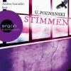 """Vergrößerte Darstellung Cover: Andrea Sawatzki liest U. Poznanski """"Stimmen"""". Externe Website (neues Fenster)"""